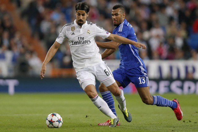 Sami Khedira (left) looks set to leave Real Madrid at the end of the season