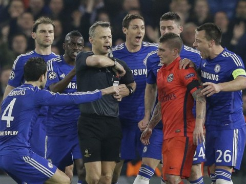 Chelsea hit back at criticism of players 'surrounding the referee' against Paris Saint-Germain with Instagram 'joke'