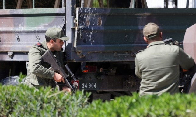 Tunisian security forces surrounded the building (Picutre: EPA)