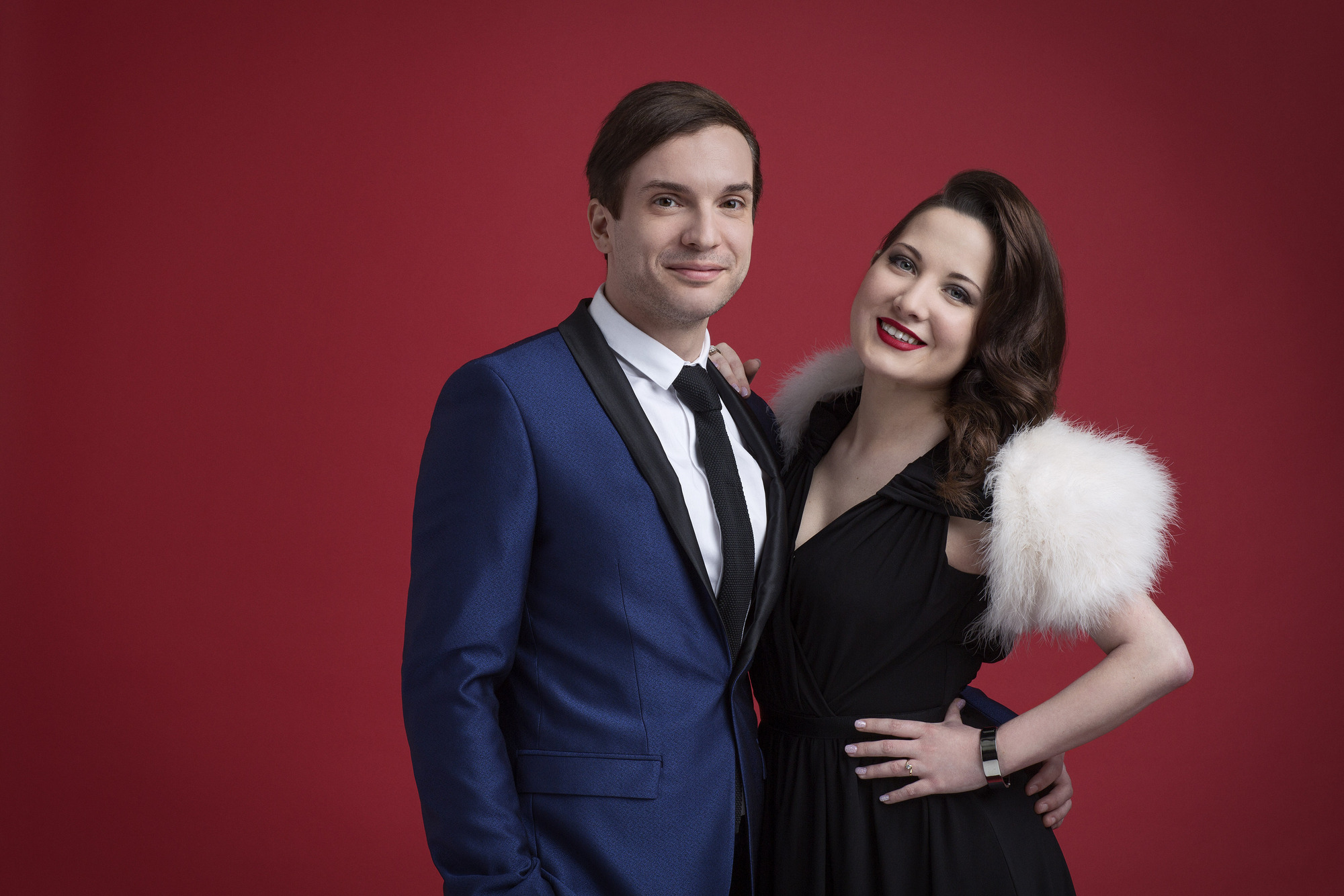 WARNING: Embargoed for publication until 07/03/2015 - Programme Name: Eurovision - TX: 23/05/2015 - Episode: n/a (No. 1) - Picture Shows: **EMBARGOED FOR PUBLICATION OR RELEASE UNTIL SAT 7TH MARCH AT 9.35PM** Electro Velvet - (C) BBC - Photographer: Sarah Dunn