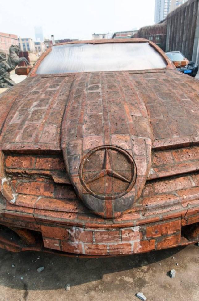Mercedes Benz, red bricks