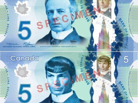 Canadian Star Trek fans have been giving banknotes a 'Spock' makeover in tribute to Leonard Nimoy