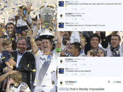 Everton fan torn apart on Twitter by LA Galaxy after pathetic attempt at trolling