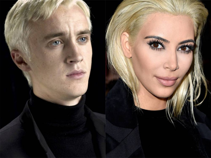 The ACTUAL Malfoys have responded to Kim Kardashian's dramatic new hair colour so everyone go home