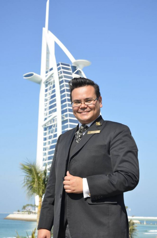 The Billion Pound Hotel - Oscar Van Der Veen at the Burj Al Arab hotel in Dubai.