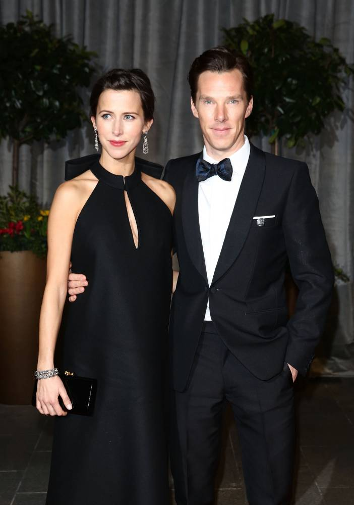 LONDON, ENGLAND - FEBRUARY 08:  Sophie Hunter and Benedict Cumberbatch attend the after party for the EE British Academy Film Awards at The Grosvenor House Hotel on February 8, 2015 in London, England.  (Photo by Tim P. Whitby/Getty Images)