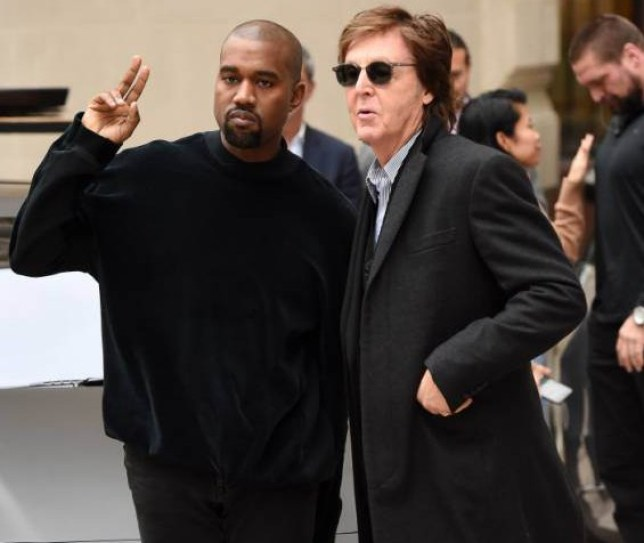 Mandatory Credit: Photo by David Fisher/REX (4509961d)  Kanye West and Paul McCartney  Stella McCartney show, Autumn Winter 2015, Paris Fashion Week, France - 09 Mar 2015