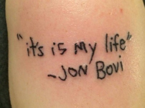 This Bon Jovi tattoo is the most unfortunate ink we've ever seen