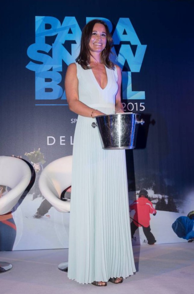 EXCLUSIVE ALL ROUND  Mandatory Credit: Photo by REX (4550309at)  Pippa Middleton attends the Disability Snowsport UK 'ParaSnowBall', sponsored by Delancey, held at the Cumberland Hotel.  ParaSnowBall, London, Britain - 18 Mar 2015