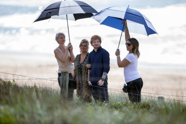 Struth: Ed Sheeran makes his soap acting debut on the set of Home And Away