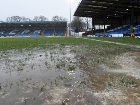 How did this even kick-off? Waterlogged pitch ends Bury v Southend after 6 MINUTES