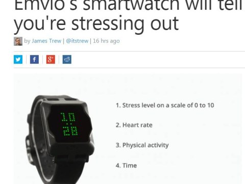 This watch will tell you when you are stressing out