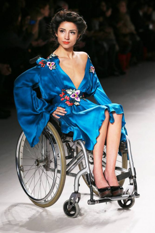 NEW YORK, NY - FEBRUARY 15: A model walks the runway wearing Rozalia Bot collection at the FTL Moda fashion show during Mercedes-Benz Fashion Week Fall 2015 at The Salon at Lincoln Center on February 15, 2015 in New York City.(Photo by Oleg Nikishin/Kommersant Photo via Getty Images)