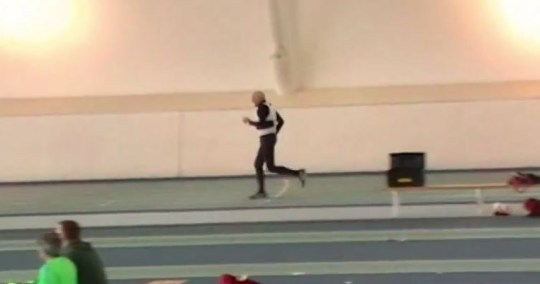 He's putting our fitness regime to shame (Picture: YouTube)