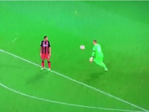 Bournemouth striker Callum Wilson scores the most ridiculous FIFA-esque disallowed goal against Cardiff