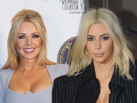 Carol Vorderman morphs into Kim Kardashian – with a little help from the peroxide bottle
