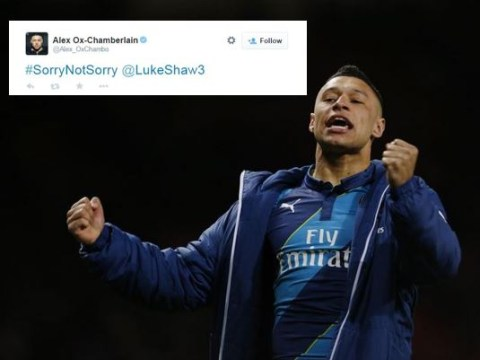 Arsenal's Alex Oxlade-Chamberlain trolls Manchester United's Luke Shaw over FA Cup result