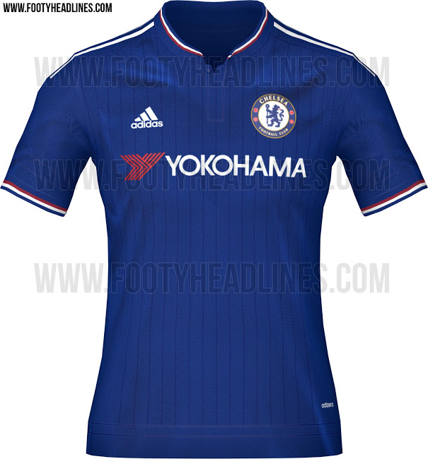 Images of a proposed new Chelsea kit for next season have been 'leaked' (Picture: footyheadlines.com)