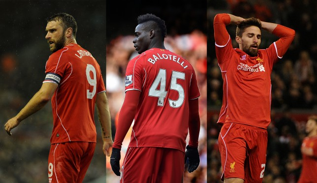 Liverpool set to put Rickie Lambert, Fabio Borini and Mario Balotelli on transfer list