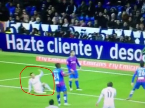 Real Madrid star Cristiano Ronaldo appears to react angrily after Gareth Bale scores