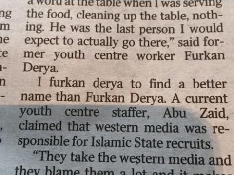 I Furkan Derya to spot what's wrong with this newspaper article