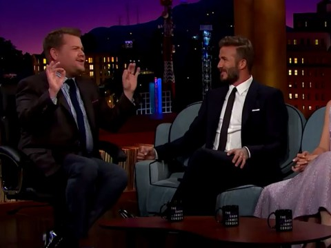 David Beckham reveals to James Corden that he spied on son Brooklyn's first date