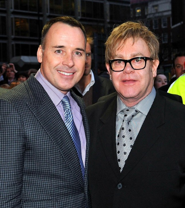 Sir Elton John (left) and partner David Furnish who has said the