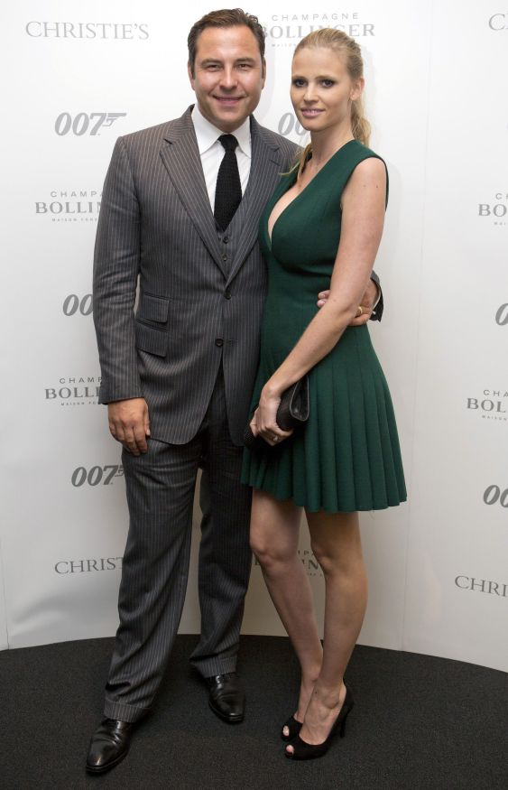 Comedian David Walliams and his wife, model Lara Stone, attend t