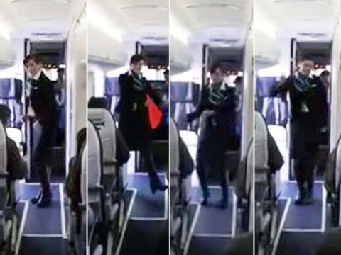 Flight attendant gives a new meaning to inflight entertainment with Uptown Funk routine