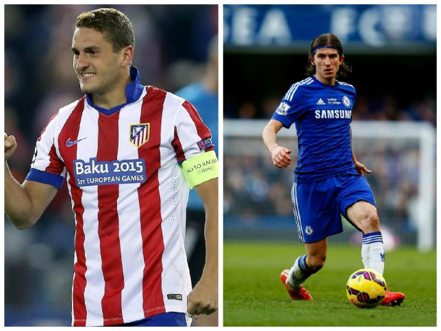 Could Koke (left) arrive at Chelsea in replace of Filipe Luis? (Picture: AP/Getty)