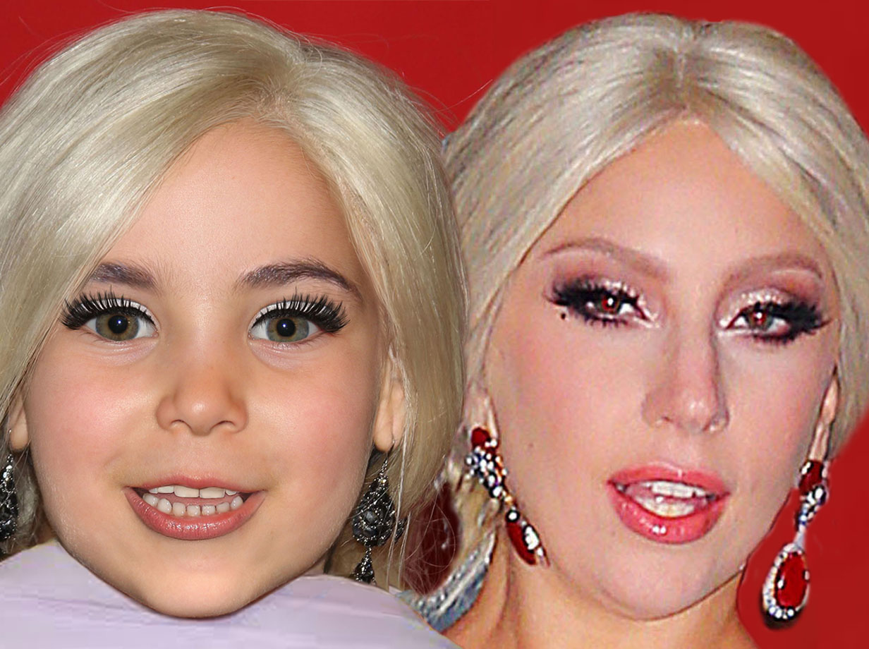 Forensic experts have worked out what Lady Gaga and Taylor Kinney's child would look like