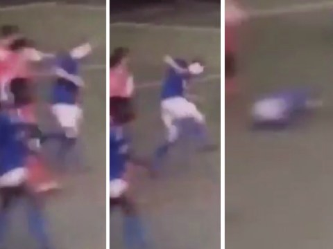 Oldham player Jack Tuohy knocked out by punch from Morecambe youngster in Under-18 match