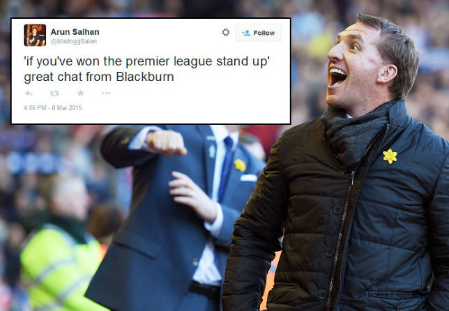 Blackburn Rovers fans troll Liverpool with 'stand up if you've won the Premier League' chant