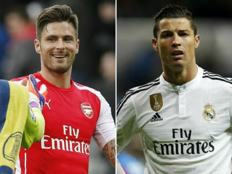 Olivier Giroud has now outscored Cristiano Ronaldo in 2015 after Arsenal brace against Newcastle