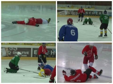 Ronald Koeman takes Southampton stars to play ice hockey, players fail miserably