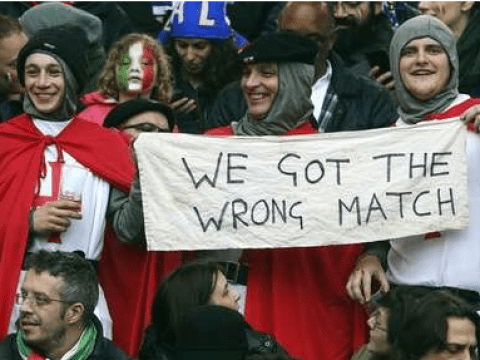 England rugby fans bought Six Nations tickets for the Italy versus France match by accident