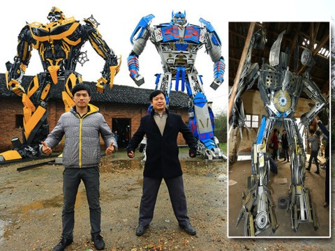 These Transformers replicas make anything you ever made with your parents look pitiful