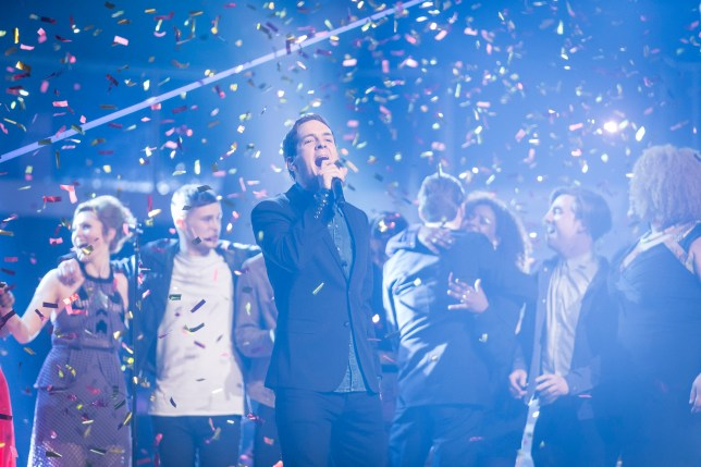 Programme Name: The Voice - TX: 04/04/2015 - Episode: FINAL 2015 EP14 (No. 14) - Picture Shows: ** THE VOICE - WINNER ** Stevie McCrorie - (C) WALL TO WALL - Photographer: GUY LEVY