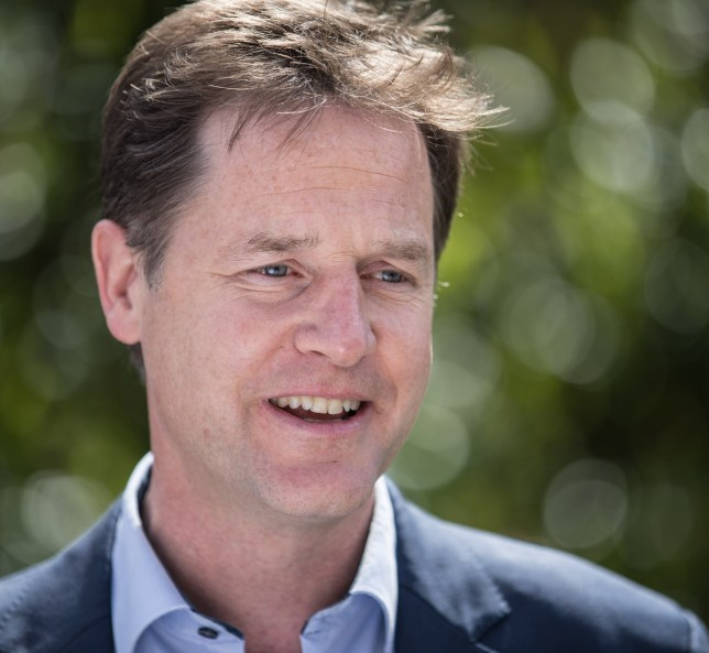 Nick Clegg on the campaign trail Picture: Rex)