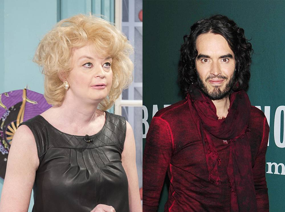 Lauren Harries claims Russell Brand watched himself on TV while they had sex
