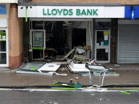Daring thieves blow the entire front off Lloyds Bank in Bristol