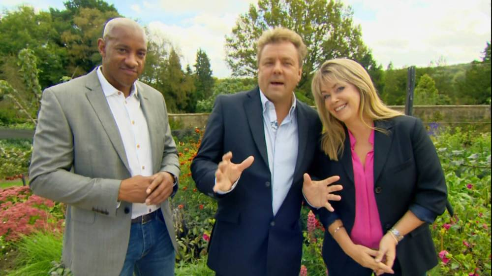 ****Ruckas Videograbs****  (01322) 861777 *IMPORTANT* Please credit the BBC for this picture. 13/04/15 Homes Under The Hammer - today (13th April 2015), 10:00am, BBC One Grabs of former footballer Dion Dublin presenting this morning's show alongside Lucy Alexander and Martin Roberts. The show saw Dion visiting a home in Dartford which was bought at an auction. Office  (UK)  : 01322 861777 Mobile (UK)  : 07742 164 106 **IMPORTANT - PLEASE READ** The video grabs supplied by Ruckas Pictures always remain the copyright of the programme makers, we provide a service to purely capture and supply the images to the client, securing the copyright of the images will always remain the responsibility of the publisher at all times. Standard terms, conditions & minimum fees apply to our videograbs unless varied by agreement prior to publication.