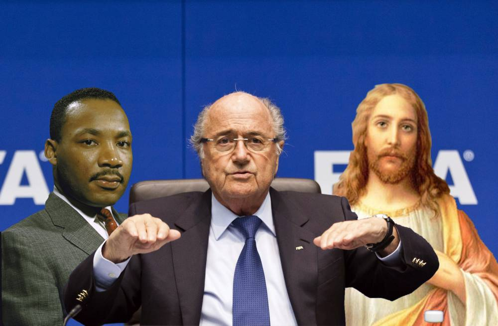 Sepp Blatter likened to 'Jesus, Martin Luther King Jr and Nelson Mandela' at Concacaf congress ahead of Fifa president election