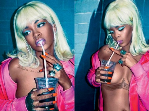 Rihanna wears blonde wig and goes topless in stunning magazine shoot