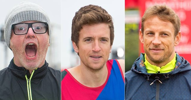 Can I please get a three-way split of Jenson Button, Chris Evans and Greg James running the marathon