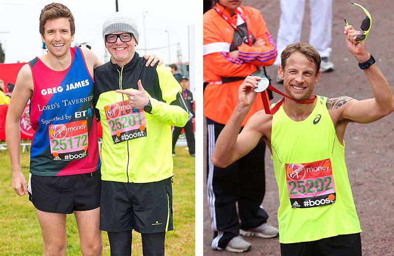 London Marathon 2015: Did you beat the times of celebrity runners Jenson Button, Chris Evans or Greg James?