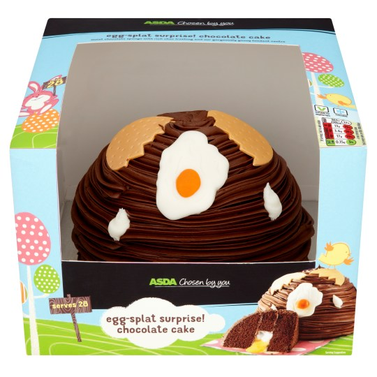 Asdas Egg Splat Surprise Chocolate Cake Is What Your Easter
