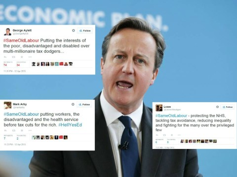 Tories launch the #SameOldLabour hashtag, backfires spectacularly