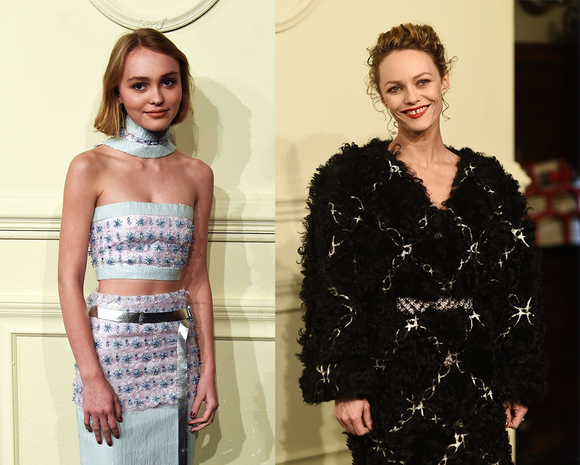 15-year-old Lily-Rose Depp shows she's as fashion forward as mum Vanessa Paradis at Chanel show