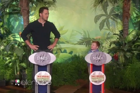 Apparently Kid completely annihilated Chris Pratt at a dinosaur quiz
